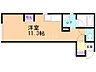 間取り,ワンルーム,面積26.91m2,賃料3.5万円,JR学園都市線 拓北駅 徒歩12分,JR学園都市線 篠路駅 徒歩15分,北海道札幌市北区拓北一条2丁目