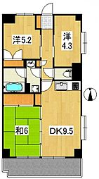 フジプラザマンション[3階]の間取り