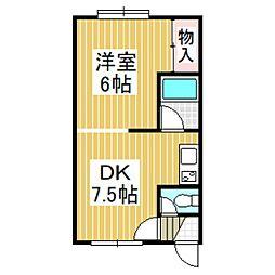 JK3[302号室]の間取り