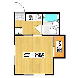 みつまるマンション[205号室]の間取り