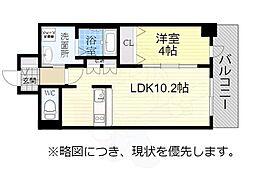 アドバンス名古屋モクシー 15階1LDKの間取り
