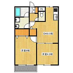 グリーンハウス3[2階]の間取り