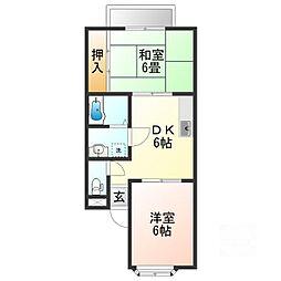 ファミールヤマザキ[1階]の間取り