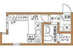 神奈川県横浜市西区伊勢町1の賃貸アパートの間取り