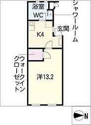 藤ヴァレイ II[1階]の間取り