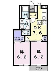 エスポワールシティ[A101 号室号室]の間取り