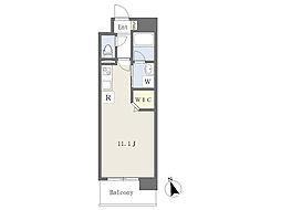 熊本市電B系統 杉塘駅 徒歩3分の賃貸マンション 3階ワンルームの間取り