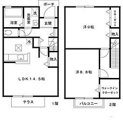 サニーガーデンA[1階]の間取り