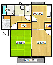 広島県広島市南区西旭町の賃貸アパートの間取り