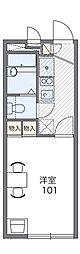 阪急千里線 千里山駅 徒歩5分の賃貸アパート 1階1Kの間取り