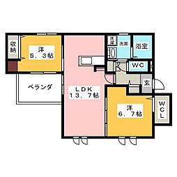 新築AVANTAGE[2階]の間取り
