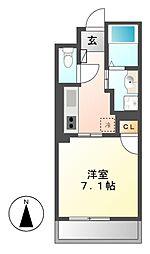 KマンションつるまいII[3階]の間取り