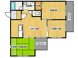 兵庫県神戸市垂水区五色山6丁目の賃貸マンションの間取り
