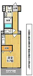 福岡県北九州市戸畑区境川2丁目の賃貸アパートの間取り