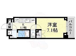 京王線 八幡山駅 徒歩2分の賃貸マンション 2階1Kの間取り