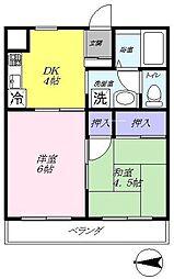グリーンマンションA[205号室]の間取り