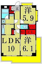 東京都足立区入谷3丁目の賃貸マンションの間取り