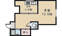 西田辺マンション[2階]の間取り