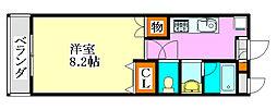 LEO弐拾弐番館[2階]の間取り