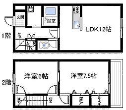 [タウンハウス] 大阪府泉佐野市日根野 の賃貸【/】の間取り