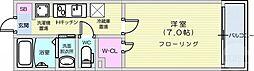 仙台市営南北線 愛宕橋駅 徒歩1分の賃貸マンション 1階1Kの間取り