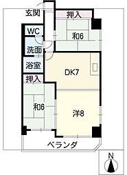 観歓ビル[1階]の間取り