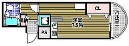 ラビクレール[3階]の間取り