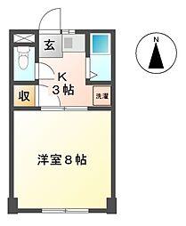 愛知県名古屋市中川区柳川町の賃貸アパートの間取り