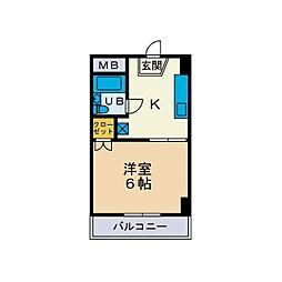 TYG第5ホエールズマンション[4階]の間取り