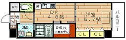 ARROW FIELDS 弐番館(アローフィールズ弐番館)[3階]の間取り
