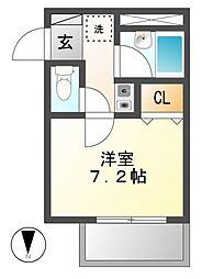 WEST1(ウエストワン)[2階]の間取り
