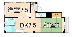 深澤ハイツ[3B号室]の間取り