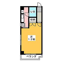 サニーサイド志水[2階]の間取り