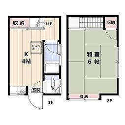 [一戸建] 東京都中野区本町2丁目 の賃貸【/】の間取り