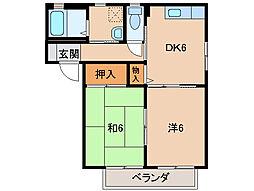 シャーメゾンSK[2階]の間取り