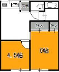 東京都足立区谷在家1丁目の賃貸マンションの間取り