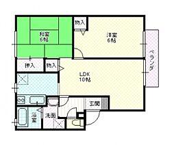 エトワールコートB棟[2階]の間取り