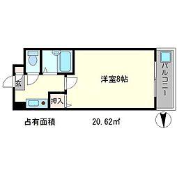 クラージュ山崎[2階]の間取り