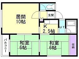 シャルム沢田A[2階]の間取り