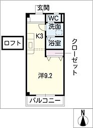ウィルハイム[2階]の間取り