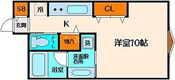 江坂アパートメント[5階]の間取り