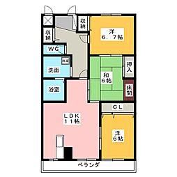 シンティラ三ノ輪[2階]の間取り