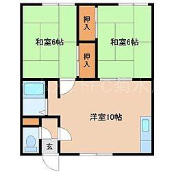 コーポ福家[2階]の間取り