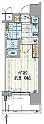 エスライズ北堀江スワン 12階1Kの間取り