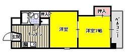 オークタウンマンション[3階]の間取り