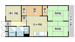 メゾン小松[201号室]の間取り