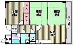 ロイヤルガーデン長野[1階]の間取り