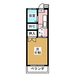 第3イーストコーポ[1階]の間取り