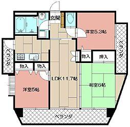FARO戸畑駅前マンション[1104号室]の間取り