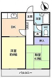 メゾン錦[2階]の間取り